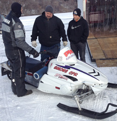Snow Mobile Race Line-Up